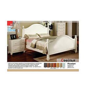 Двуспальная кровать из массива дерева Севилья