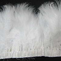 Тесьма из лебяжьих перьев .Цвет  White. Цена за 0.5м