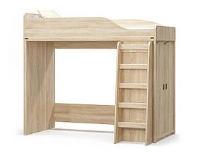 Кровать Горка односпальная в детскую комнату из ДСП Валенсия Мебель Сервис с ламелями без ламелей