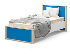 Кровать односпальная в детскую комнату из ДСП 90 Лео Мебель Сервис без ламелей