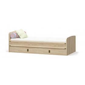 Кровать односпальная в детскую комнату из ДСП 90 Валенсия Мебель Сервис без ламелей