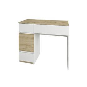 Туалетний столик в спальню з ДСП Лаура Сокме дуб веллінгтон/білий