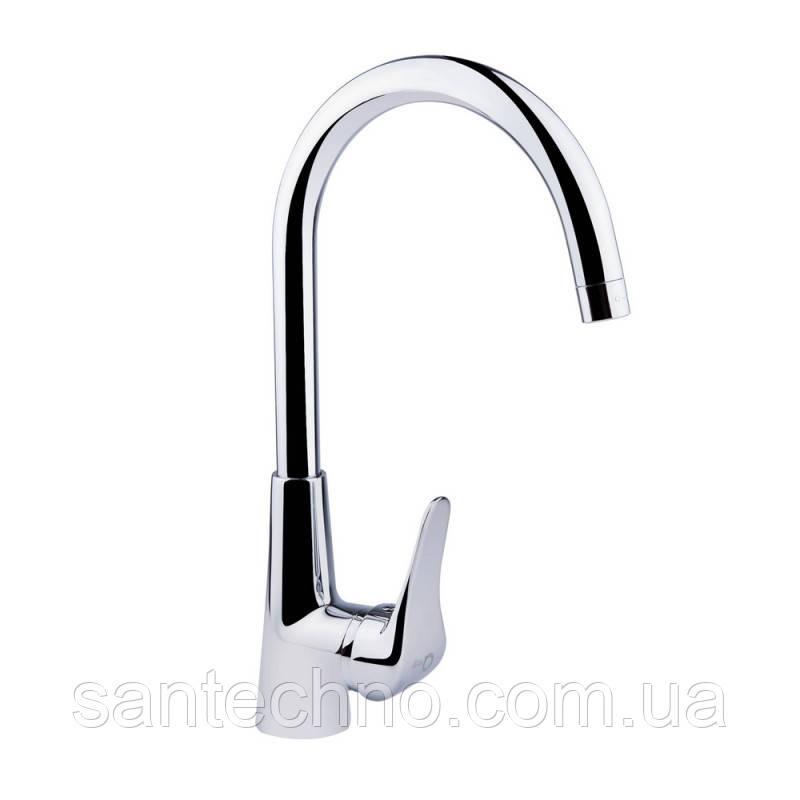 Смеситель для кухни рычажный высокий излив Q-tap Integrа CRM 007