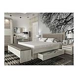 Тумба прикроватная в спальню из ДСП Милана Сокме дуб крафт серый/дуб крафт белый, фото 5