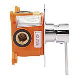 Смеситель скрытого монтажа для биде Q-tap Form CRM 001AB SQ, фото 3