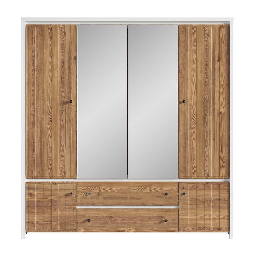 Шкаф шестидверный распашной SZF6D2S(A) в спальню из ДСП и МДФ Кристина
