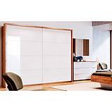 Шкаф-купе в спальню, в прихожую Асти 2,0 AS-22-WB MiroMark дуб крафт/белый глянец (без карниза), фото 3