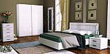 Шкаф-купе в спальню, в прихожую Белла 1,5 BL-19-WB MiroMark белый глянец, фото 3