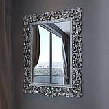 Дзеркало в спальні, в передпокій Франко 800х1100 MR-76-SL MiroMark сріблястий, фото 2
