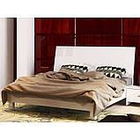 Ліжко двоспальне Рома RM-38-WB MiroMark білий глянець, фото 2