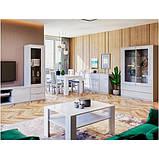 Комод в гостиную, в спальню, в детскую Рома 2Д3Ш 1,6 RM-167-WB MiroMark белый глянец, фото 2