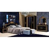 Кровать двуспальная с мягким изголовьем Дженифер JF-37-BL MiroMark черный, фото 2