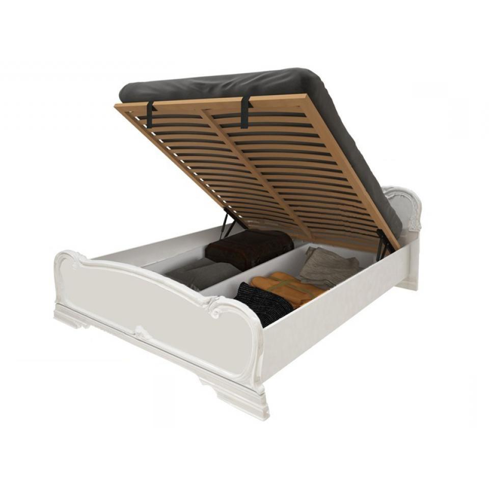 Ліжко двоспальне з підйомним механізмом Футура FT-46-WB MiroMark білий глянець