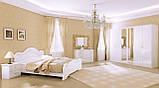 Ліжко двоспальне з підйомним механізмом Футура FT-46-WB MiroMark білий глянець, фото 3