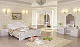 Ліжко двоспальне з підйомним механізмом Футура FT-46-WB MiroMark білий глянець, фото 4
