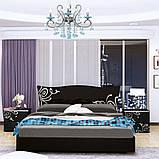 Кровать двуспальная Богема BG-36-BL MiroMark черный глянец, фото 2