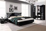 Кровать двуспальная Богема BG-36-BL MiroMark черный глянец, фото 3