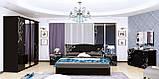 Кровать двуспальная Богема BG-36-BL MiroMark черный глянец, фото 4
