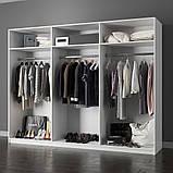 Шкаф распашной с зеркалами в спальню, в прихожую Виола 6Д VL-16-WB MiroMark белый/черный, фото 2