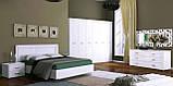 Комод в спальню, у вітальню, дитячу Белла 6Ш BL-66-WB MiroMark білий глянець, фото 2
