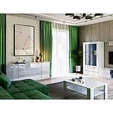 Витрина в гостиную Рома 2Д RM-112-WB MiroMark белый глянец, фото 3