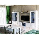 Витрина в гостиную Рома 2Д RM-112-WB MiroMark белый глянец, фото 5