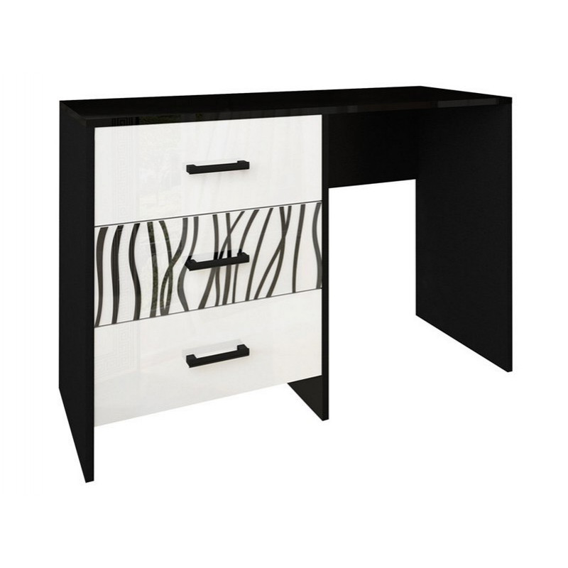 Туалетный столик в спальню Терра 3Ш TR-73-WB MiroMark белый/черный