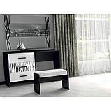 Туалетный столик в спальню Терра 3Ш TR-73-WB MiroMark белый/черный, фото 3