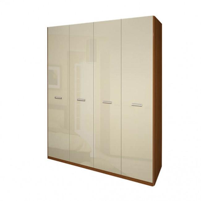 Шкаф распашной в спальню, в прихожую Белла 4Д BL-24-VN MiroMark вишня бюзум/ваниль (без зеркал)