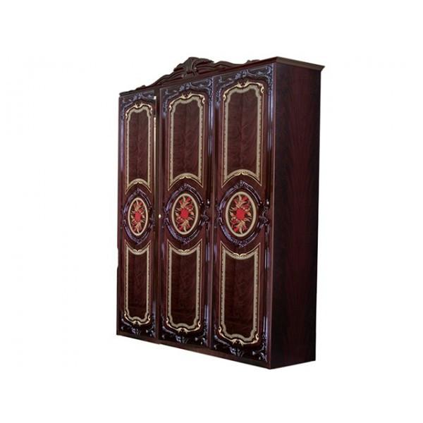 Шкаф распашной в спальню, в прихожую Реджина 3Д RG-23-PR MiroMark перо рубино (без зеркал)
