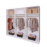 Шкаф распашной в спальню, в прихожую Ники 6Д NK-27-WB MiroMark дуб крафт/белый глянец (без зеркал), фото 2