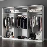 Шкаф распашной в спальню, в прихожую Виола 6Д VL-26-WB MiroMark белый/черный (без зеркал), фото 2