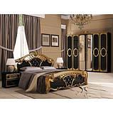 Шафа розпашній з дзеркалами в спальню, в передпокій Реджина Чорна 6ДRG-16-BG MiroMark чорний/золотистий, фото 4