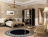 Шафа розпашній з дзеркалами в спальню, в передпокій Реджина Чорна 4Д RG-14-BG MiroMark чорний/золотистий, фото 4