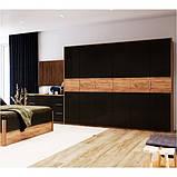 Шкаф распашной в спальню, в прихожую Рамона 6Д RА-26-LV MiroMark дуб крафт/черный, фото 3