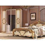 Шафа розпашній з дзеркалами в спальню, в передпокій Реджина Голд 4Д RGG-14-RB MiroMark бежевий/золотистий, фото 4