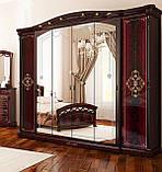 Шкаф распашной с зеркалами в спальню, в прихожую Роселла 6Д RS-16-PR MiroMark перо рубино, фото 3