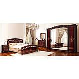 Шкаф распашной с зеркалами в спальню, в прихожую Роселла 6Д RS-16-PR MiroMark перо рубино, фото 4