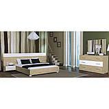 Комод в спальню, в гостиную, в детскую Флоренция 3Ш FR-63-WB MiroMark дуб сан марино/белый глянец, фото 2