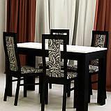 Стол обеденный Терра 1600х950 TR-185-WB MiroMark белый/черный, фото 2