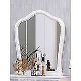 Зеркало в спальню, в прихожую Луиза LZ-81-WB MiroMark белый глянец, фото 2