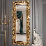 Дзеркало настінне в спальню, в передпокій Лара 750х1800 MR-80-GL MiroMark золотистий, фото 3