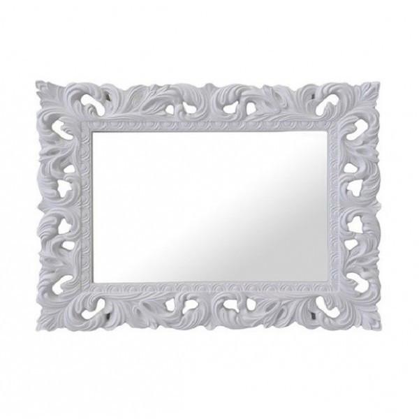 Зеркало в спальню, в прихожую Пиония 1200х1000 MR-82-WH MiroMark белый