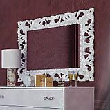 Зеркало в спальню, в прихожую Пиония 1200х1000 MR-82-WH MiroMark белый, фото 3