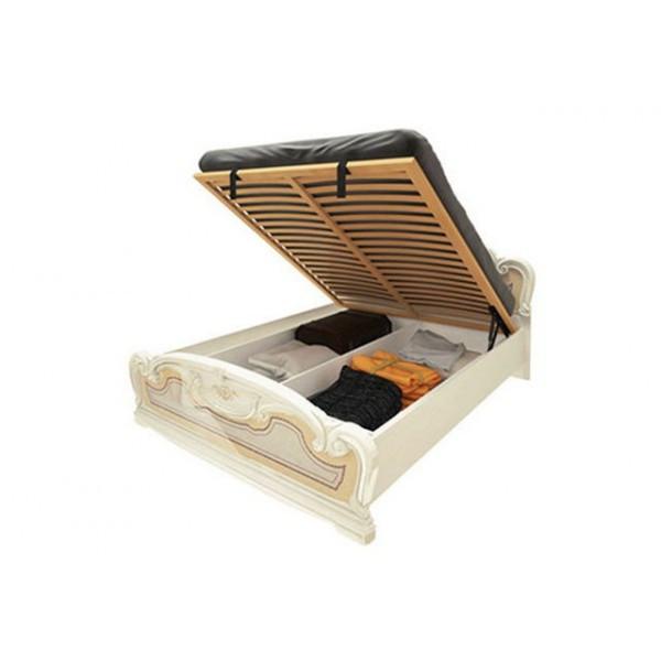 Ліжко двоспальне з підйомним механізмом Мартіна MR-48-RB MiroMark бежевий