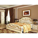 Ліжко двоспальне з підйомним механізмом Мартіна MR-48-RB MiroMark бежевий, фото 4