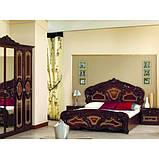 Кровать двуспальная Реджина RG-38-PR MiroMark перо рубино, фото 2