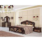 Кровать двуспальная Реджина RG-38-PR MiroMark перо рубино, фото 3