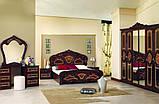 Кровать двуспальная Реджина RG-38-PR MiroMark перо рубино, фото 4