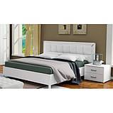 Кровать двуспальная с мягким изголовьем и подъемным механизмом Белла BL-49-WB MiroMark белый глянец, фото 3